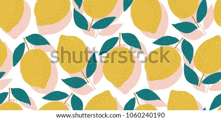 vector lemons repeat background, perfect for fabric, scrapbooking and kitchen design