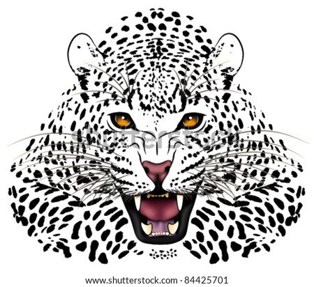 vector leopard executed in the