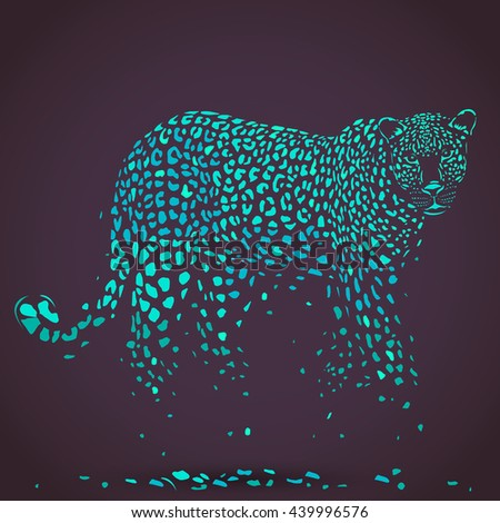 vector leopard silhouette