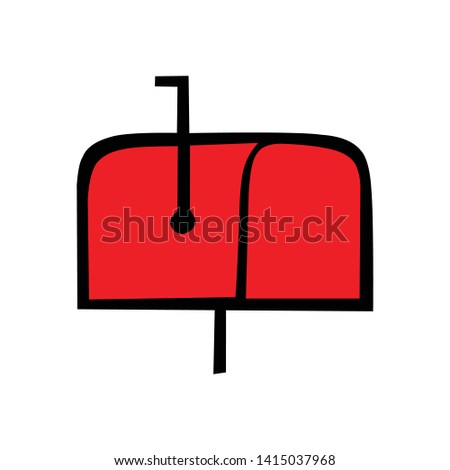 vector letter box, flat sign symbol for cellular and web design concepts, simple mailbox symbols, mailbox symbols