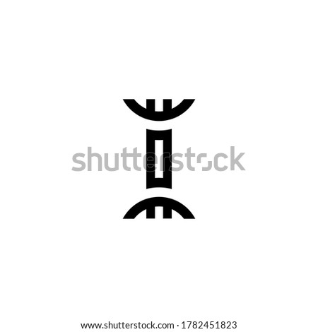 vector letter ii uppercase