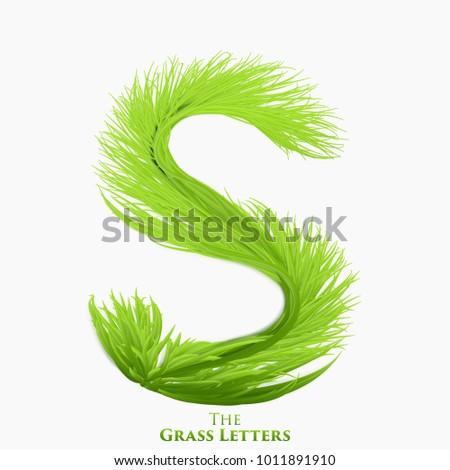 vector letter s of juicy grass