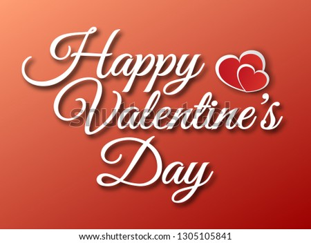 Vector lettering design for Valentines Day greeting card - Vector eps 10 #1305105841