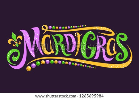 vector lettering for mardi gras