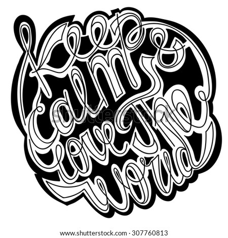 vector lettering white letters