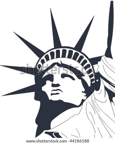 Vector liberty statue - stock vector