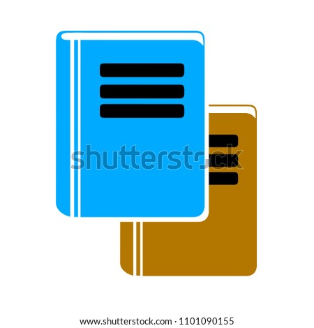 vector library sign, education symbol - learning icon