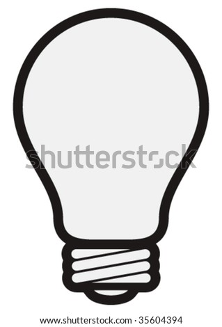 Vector light bulb.