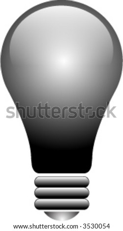 Vector Light Bulb and Glass Button