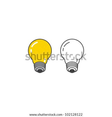 Vector Light Bulb Icon Set