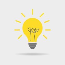Vector light bulb icon. Vector illustration. Flat design for business financial marketing advertisement advertisement web concept cartoon illustration