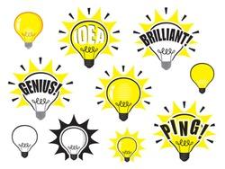 Vector light bulb idea symbol