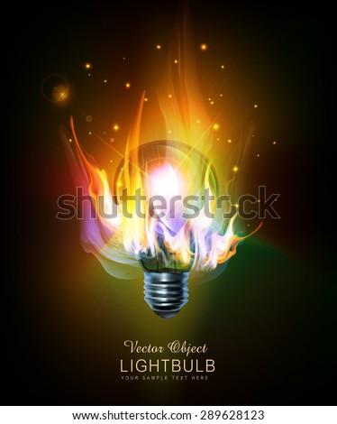 vector light bulb with a