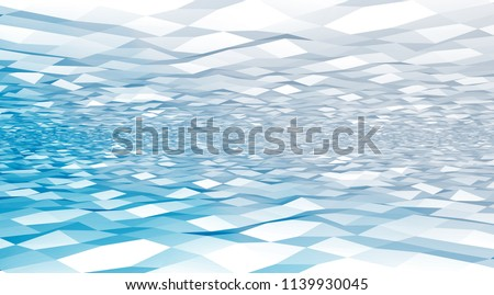 Vector light colored low-poly, polygonal background for web. Digital illustration. 3D design template.  Pastel blue color. Abstract fond. Horison.