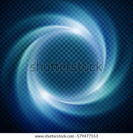 Vector light effect on transparent background. Glowing cosmic vortex or super nova illustration Photo stock ©