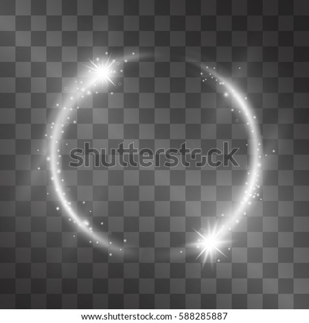 vector light effect with circle