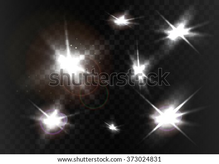 vector light flashes sparks