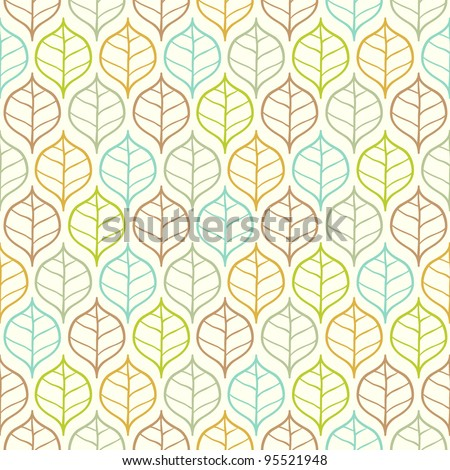 Vector light leaf pattern