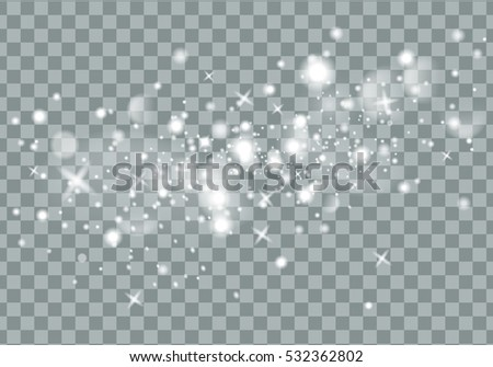 Vector light trace with star glitter flare magic effect
