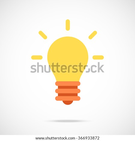 Vector lightbulb icon. Modern flat design vector illustration concept for web banner, web and mobile apps, web sites, printed materials, infographics. Vector icon isolated on gradient background Foto stock ©