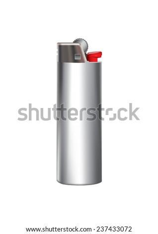 Vector lighter on white background