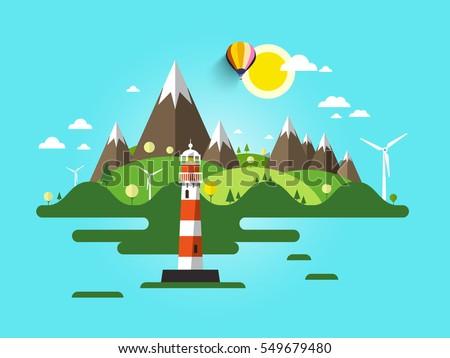 vector lighthouse illustration