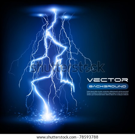 vector lightning flash strike
