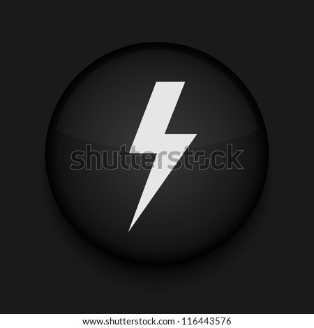 vector  lightning icon eps10