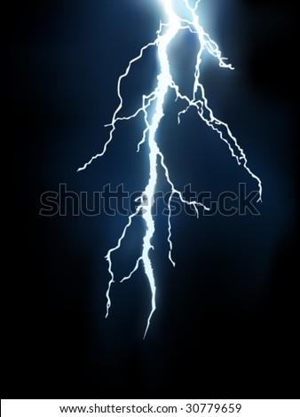vector lightning illustration