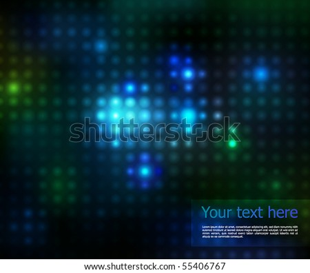 vector lights on a black background - stock vector
