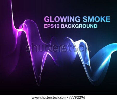 "vector lights -  ""vector smoke"" effect  on dark background"