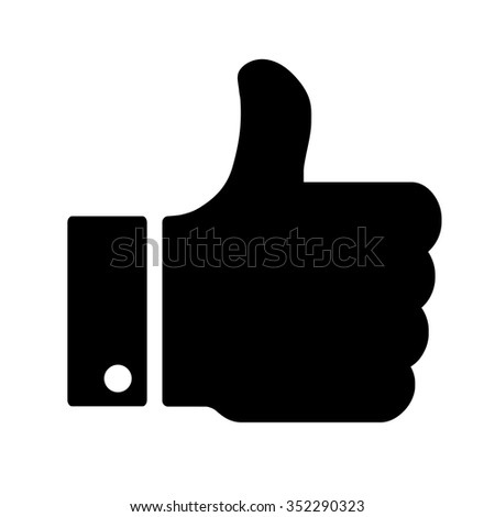 Vector Like button isolated on white background. ストックフォト ©