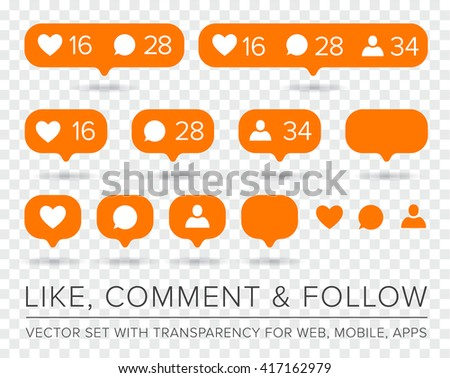 vector like  follower  comment