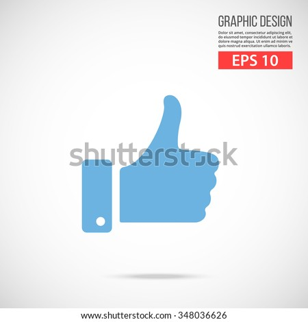 vector like icon blue icon