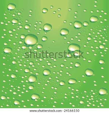 vector lime green water bubbles