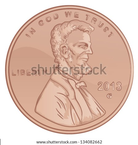 vector lincoln penny united