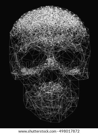 vector line art skull