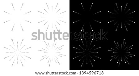vector line explosion effects. explosion effects. ray, light effects