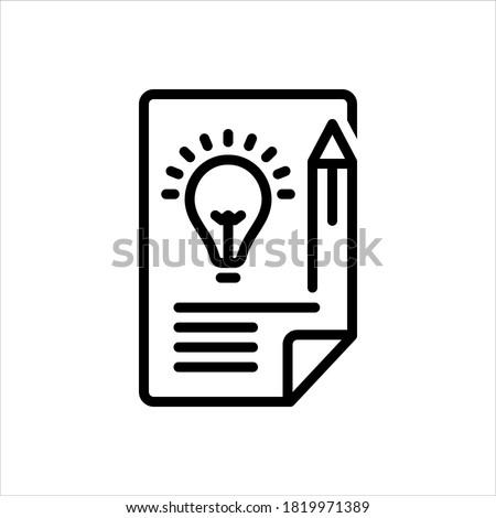 Vector line icon for brief Stockfoto ©