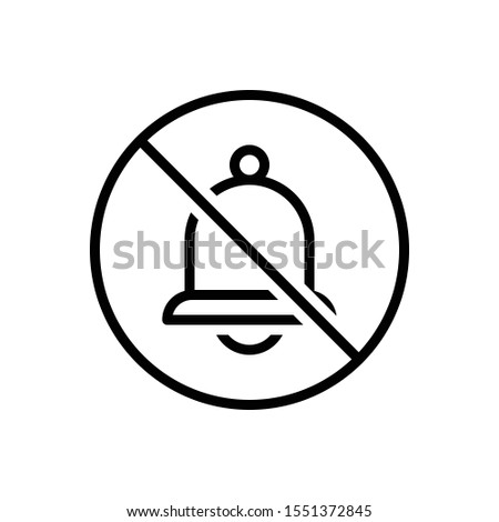 vector line icon for none