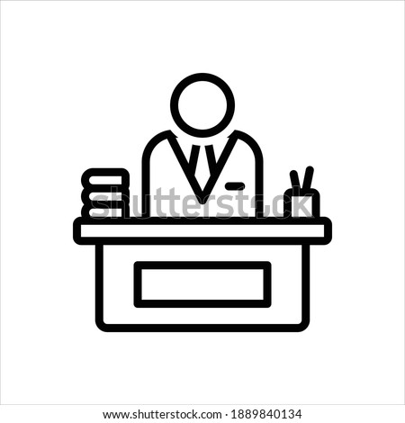 Vector line icon for principal ストックフォト ©