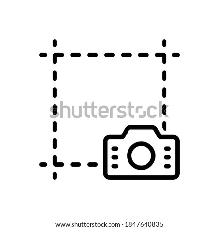 vector line icon for screenshot