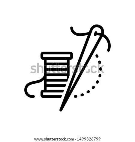 Vector line icon for thread needle Сток-фото ©