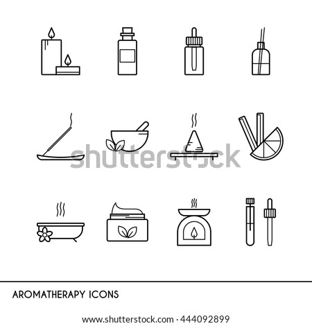 vector line icons with
