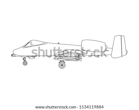 vector line illustration of the