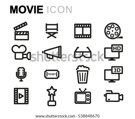 Vector line movie set