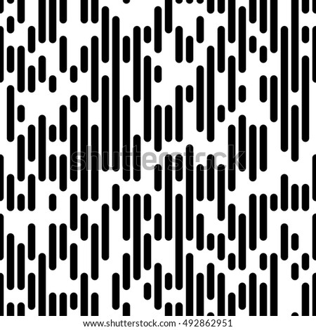 Vector Line Pattern. Minimal Monochrome Design. Seamless Lined Paper Background. Fine Print Texture