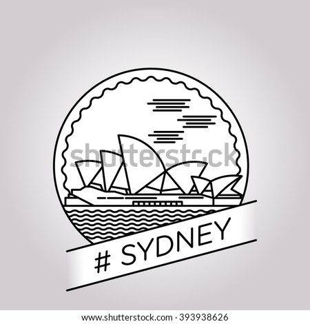 vector line sydney badge