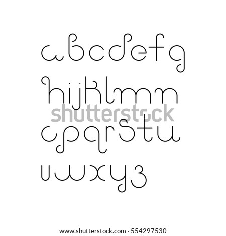 vector linear font   simple