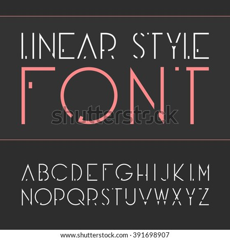 vector linear font   simple and
